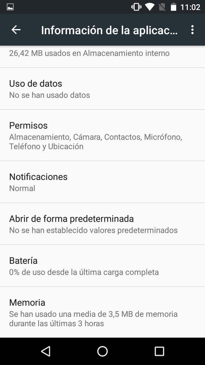 Ajustes avanzados del Nexus 5X