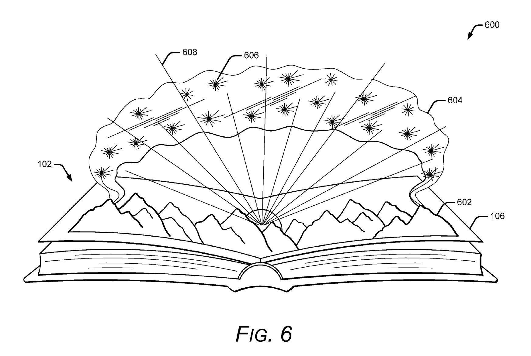 Uso del libro interactivo de Google en una patente