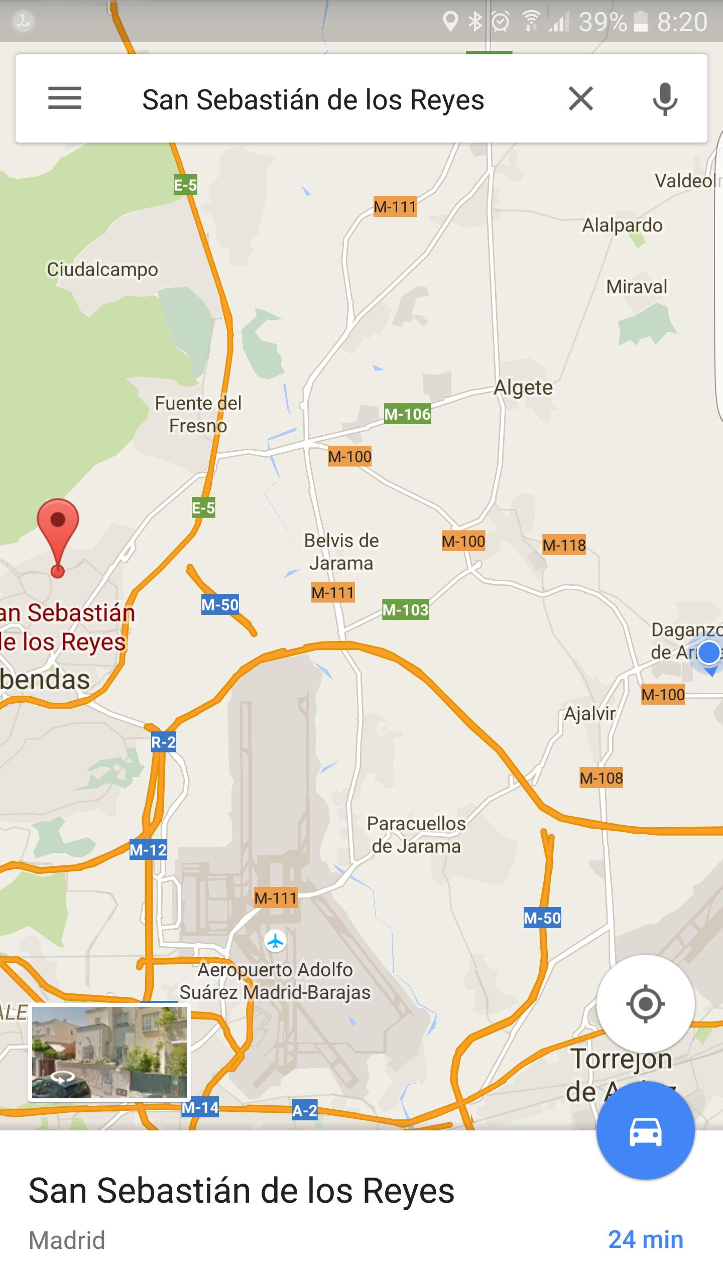 Ruta creada con la aplicación Google Maps 9.22