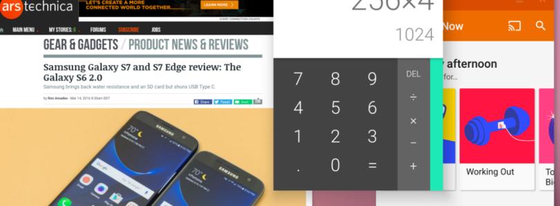 Ventanas ajustables en Android N