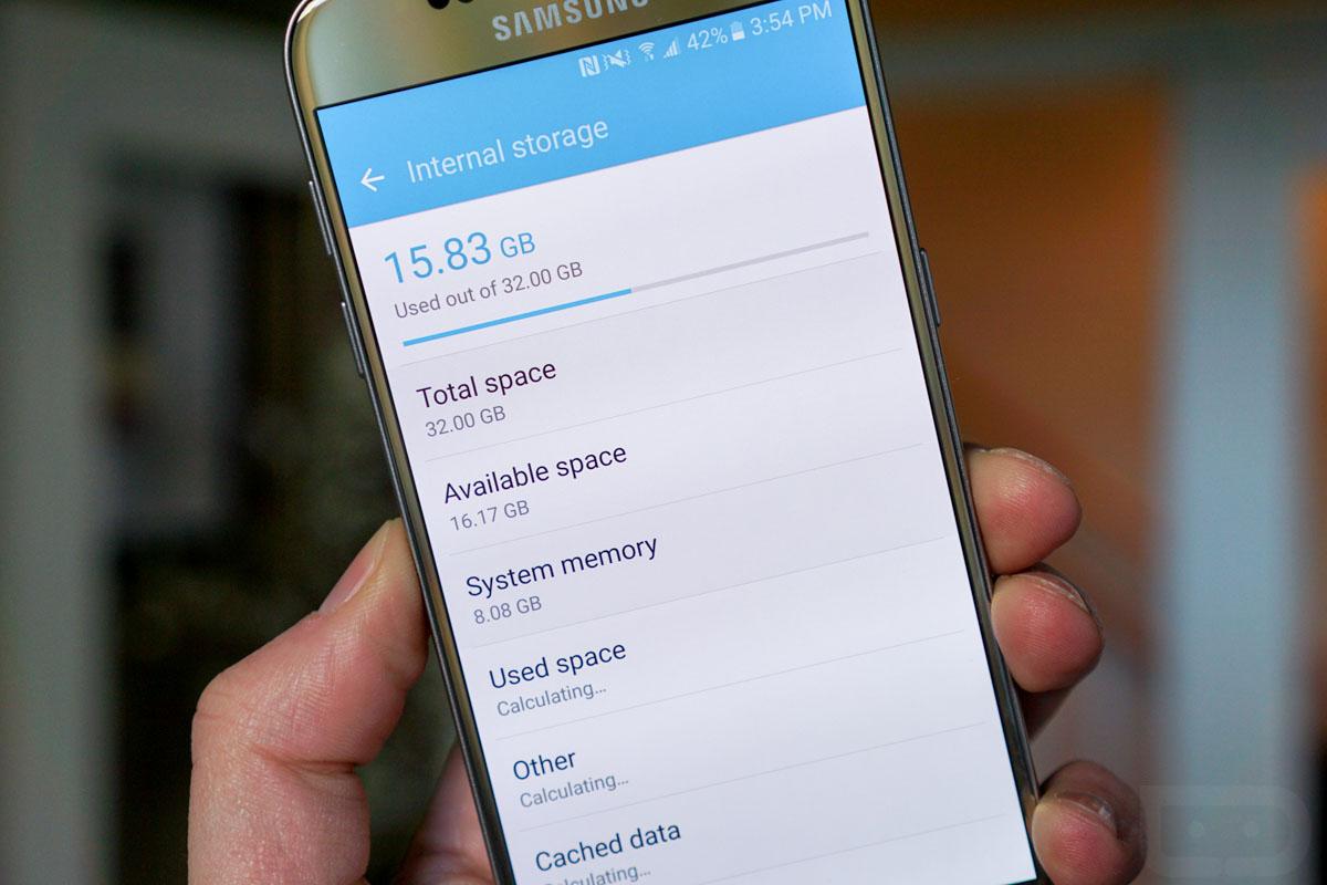 Almacenamiento Samsung Galaxy S7