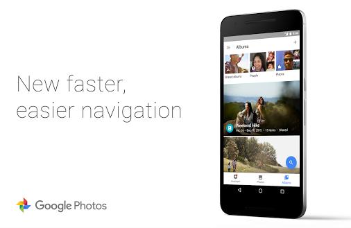 Aspecto de la nueva versión de Google Fotos