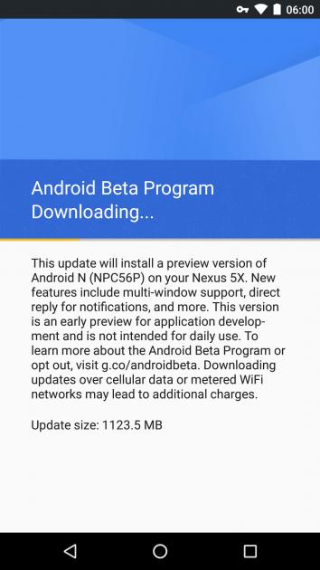 Descarga de Android Beta Program y Android N