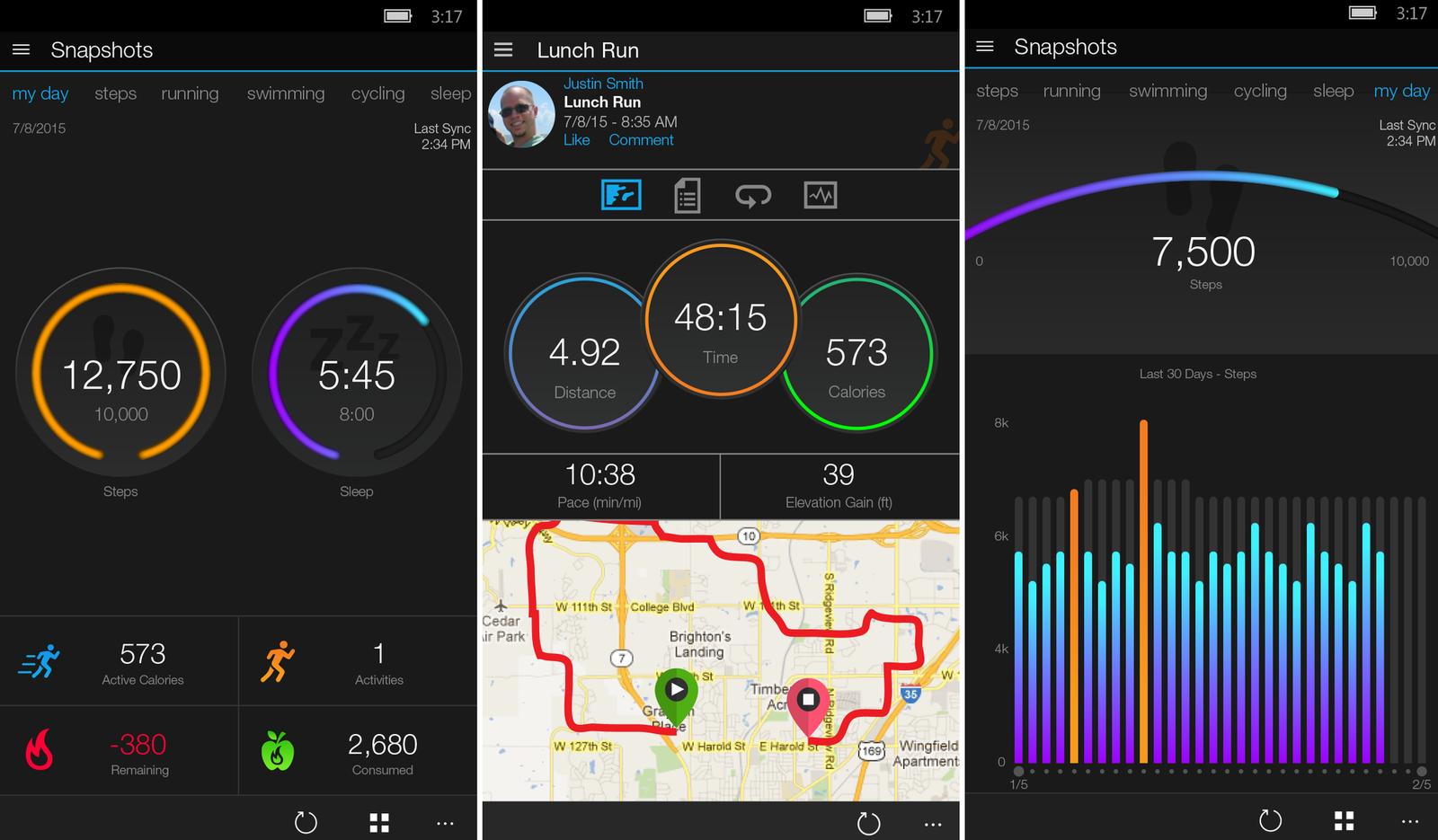 Aplicaicón Garmin Connect™ Mobile