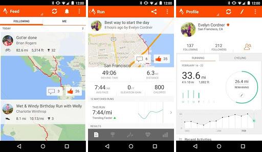Aplicaicón Strava Running and Cycling GPS