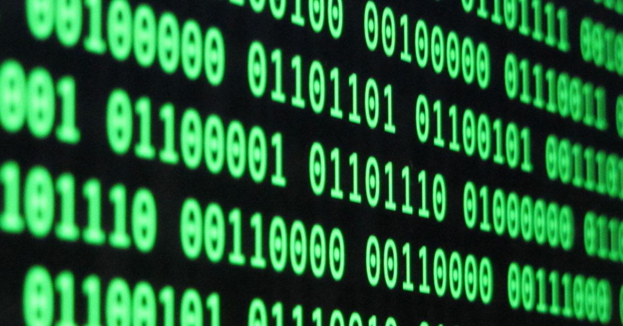 Lista de datos binarios