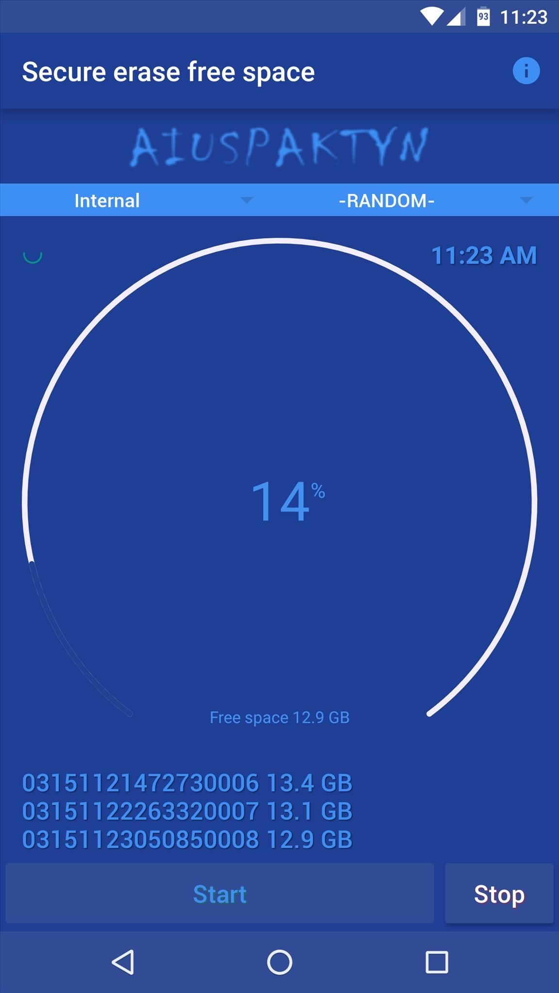 Aplicación Secure Eraser para Android
