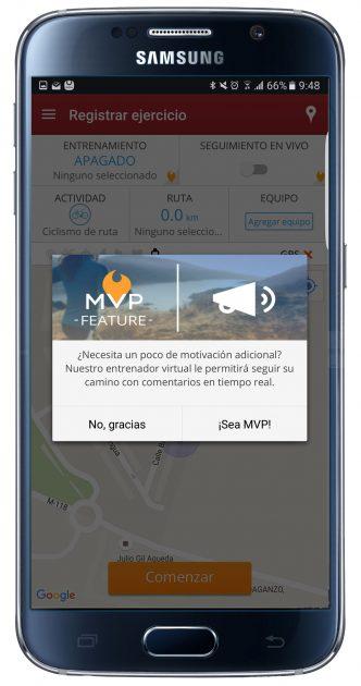 Pago en MapMyRide