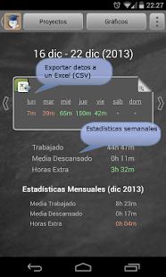 Aplicación Tiempo de estudio para Android