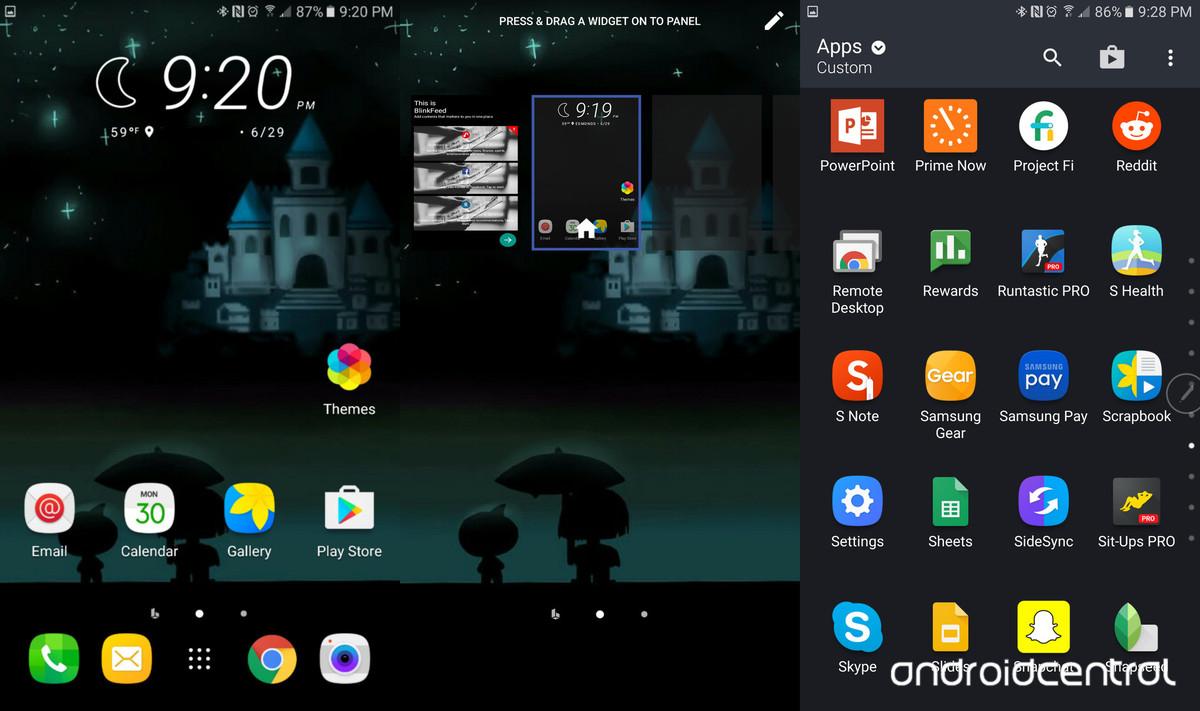 HTC Sense 8 en un Samsung Galaxy Note 5