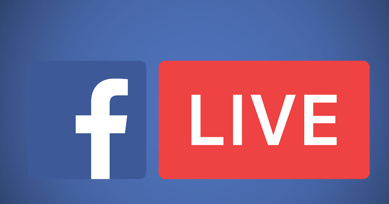 Logotipo Facebook Live con fondo azul