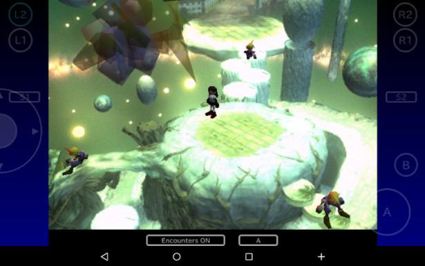 Interfaz del juego Final Fantasy VII para Android