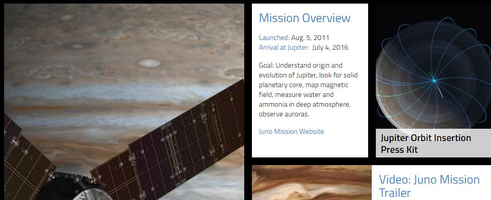Misión de la sonda Juno en NASA