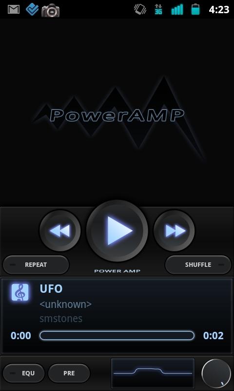 Aplicación Poweramp para Android