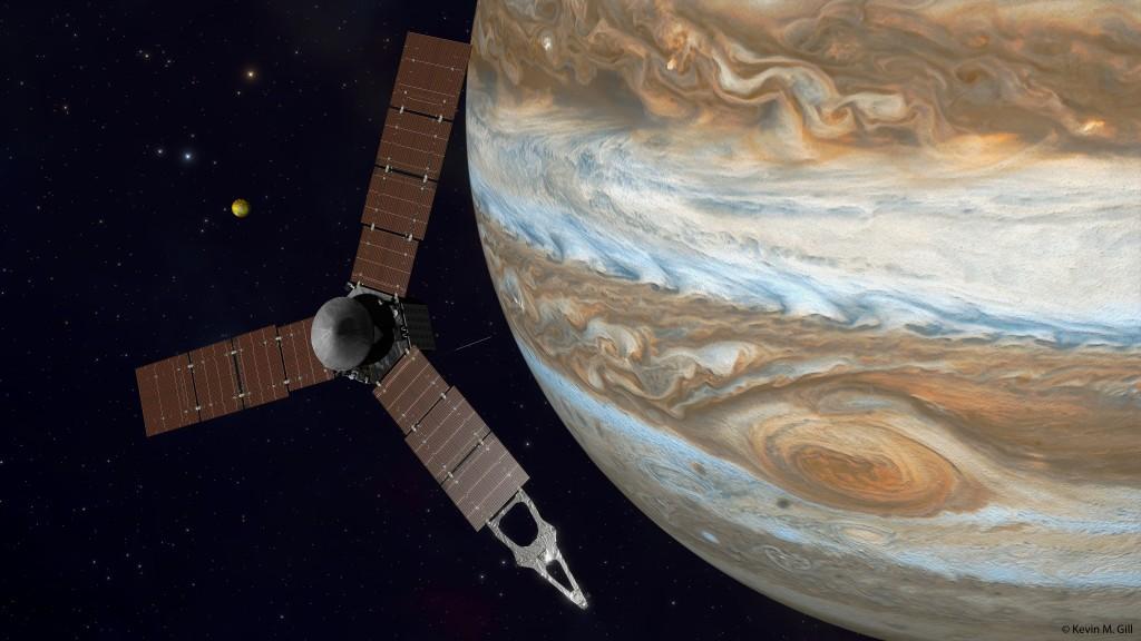 Sonda Juno en Júpiter