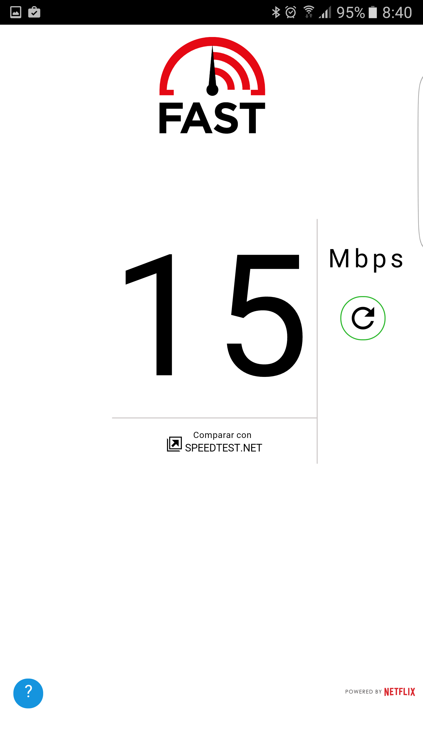 Aplicaicón FAST Speed Test de Netflix