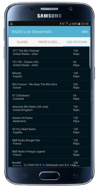 Listado emisoras en RADIO