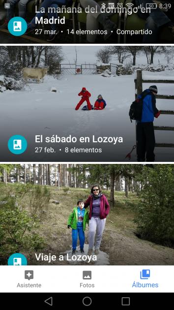 Gestión de álbumes en Google Fotos 2.0