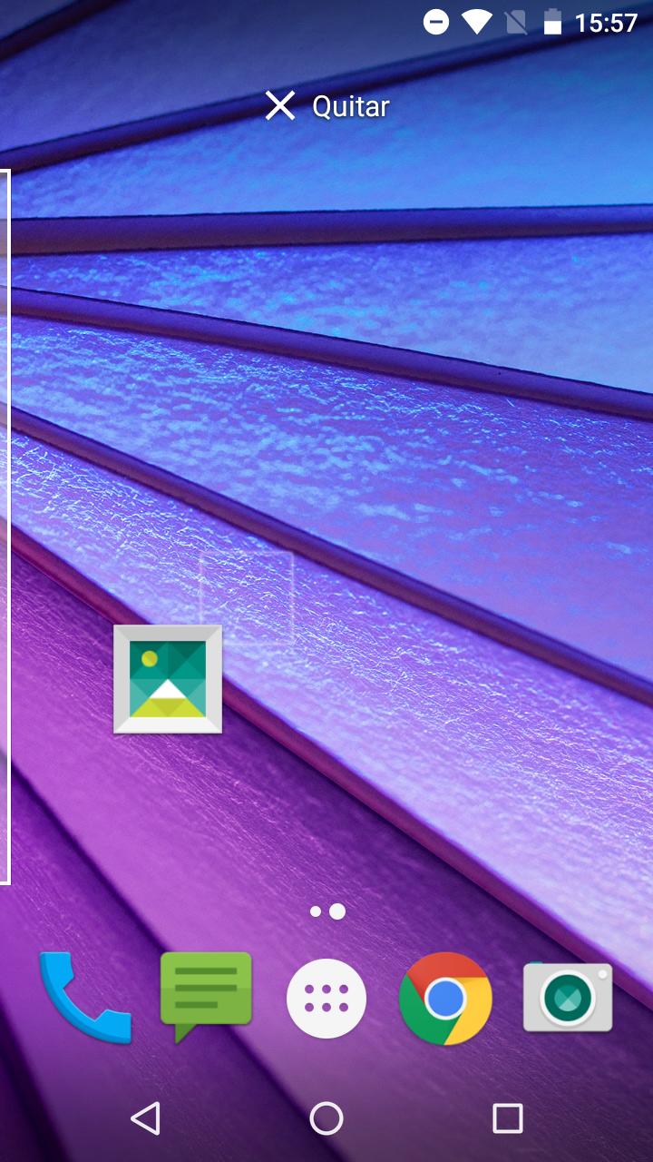 Crear escritorio en Google Nexus Launcher