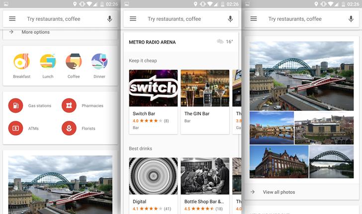 Nueva interfaz en Explorar de Google Maps
