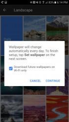 Opciones Galería de Pixel Launcher