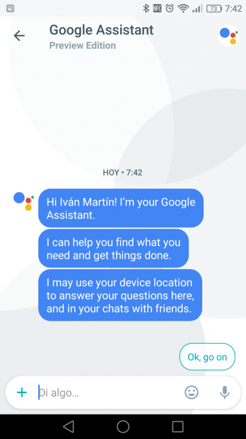 Asistente en Google Allo