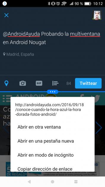 Utilizando Multiventana en Android 7.0