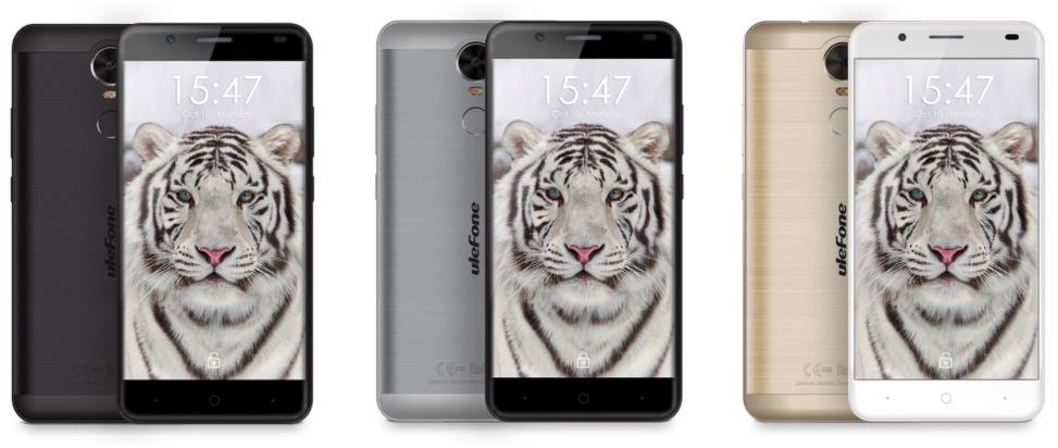 Colores del Ulefone Tiger: Negro, Plata y Dorado