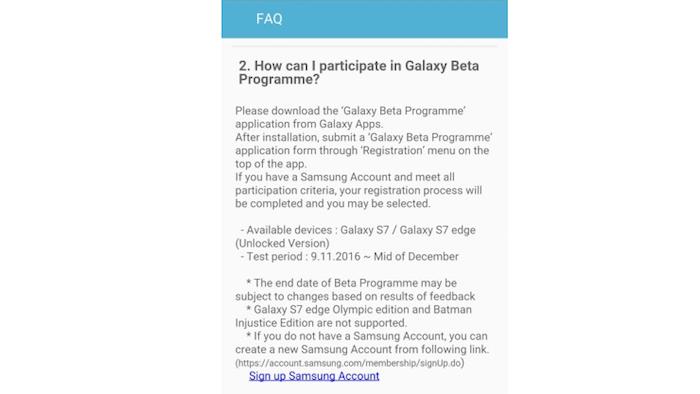 fecha beta android nougat