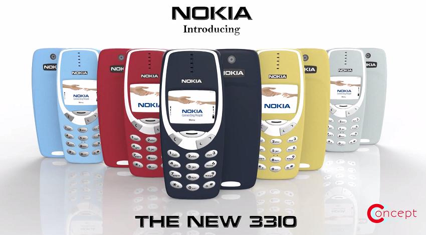 Diseño conceptual del nuevo Nokia 3310