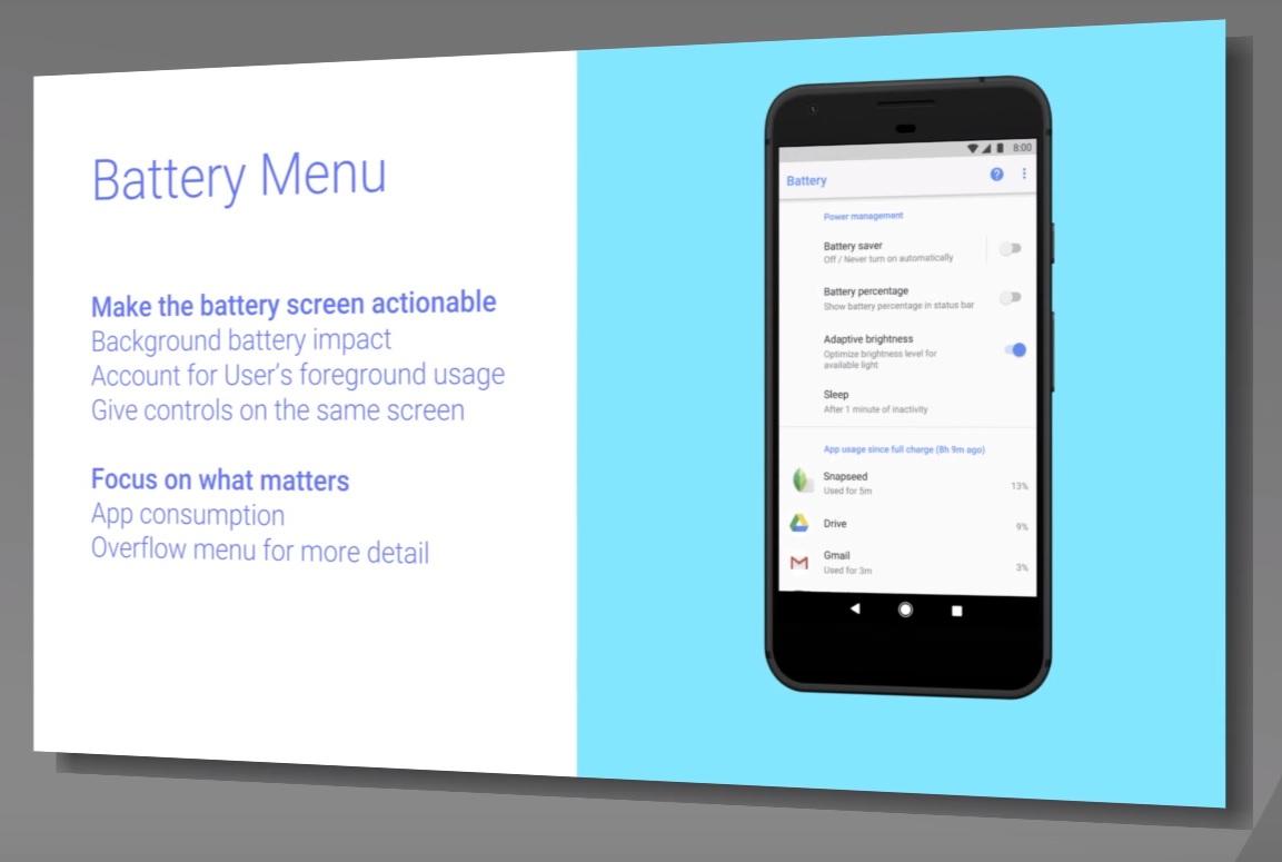 Batería con Android O