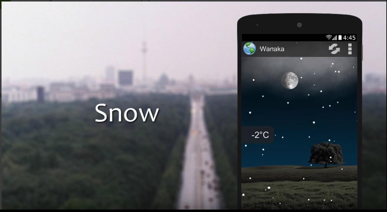 Animated Weather - mejores widgets del tiempo