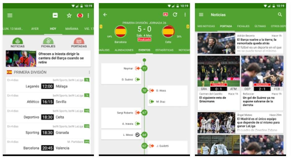 aplicaciones imprescindibles de fútbol