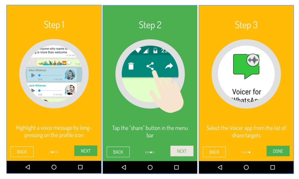 Voicer for Whatsapp; notas de voz de WhatsApp a texto