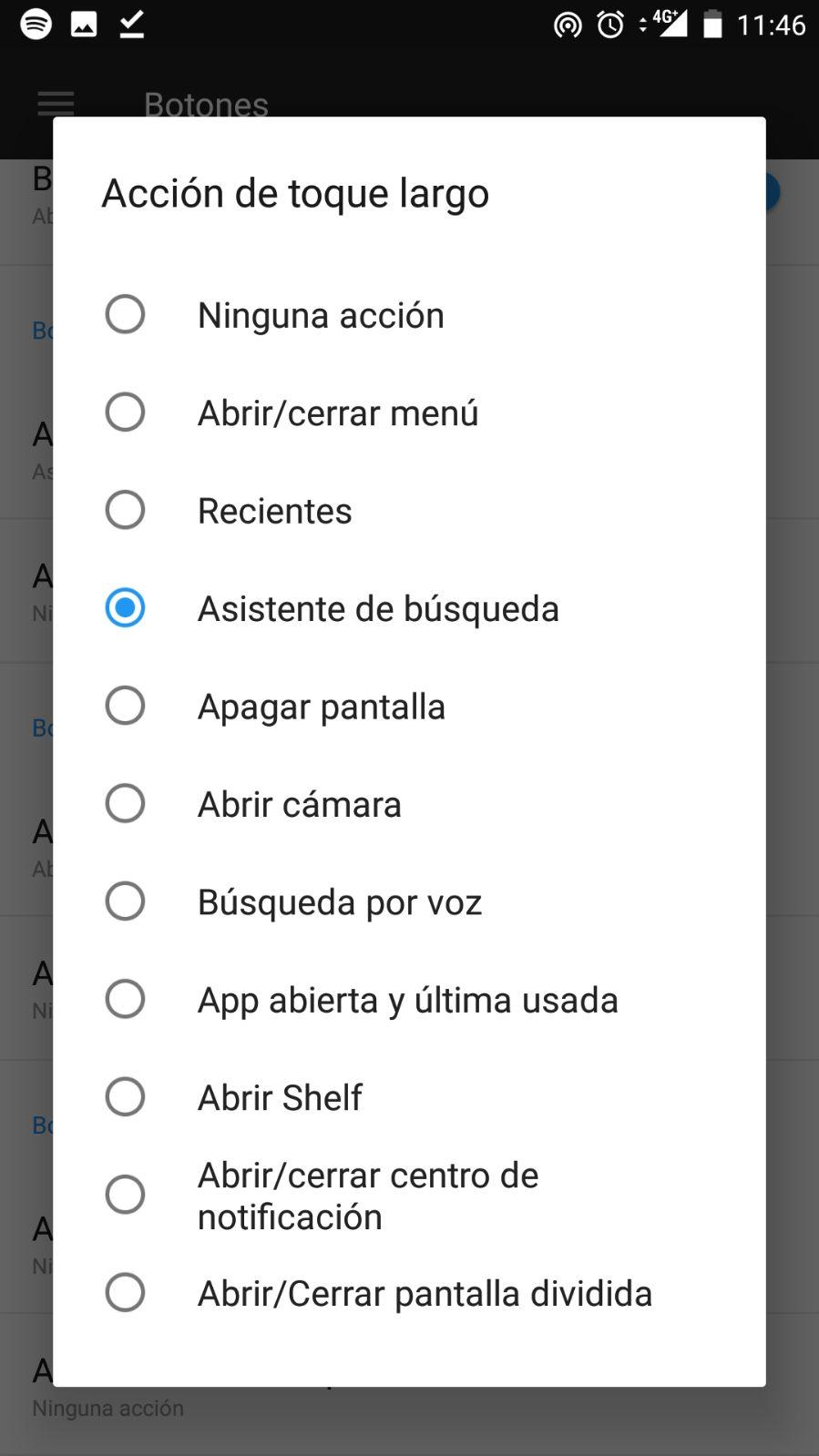 personalizar botones en el OnePlus