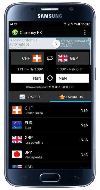Interfaz de Currency FX