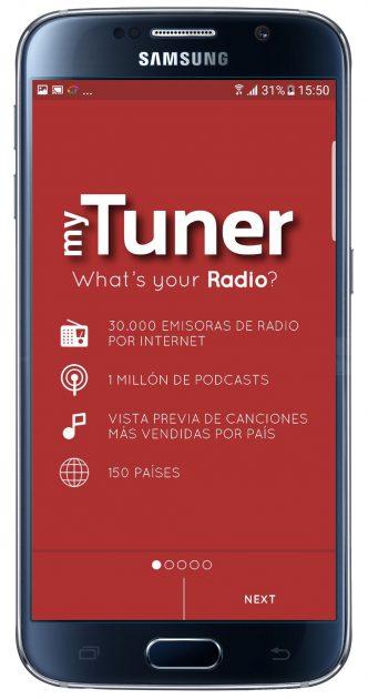Comenzar myTuner Radio