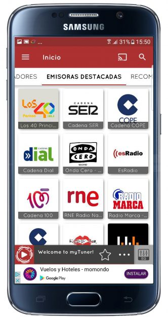 Emisoras en myTuner Radio