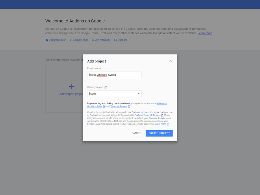 crear apps para Google Assistant