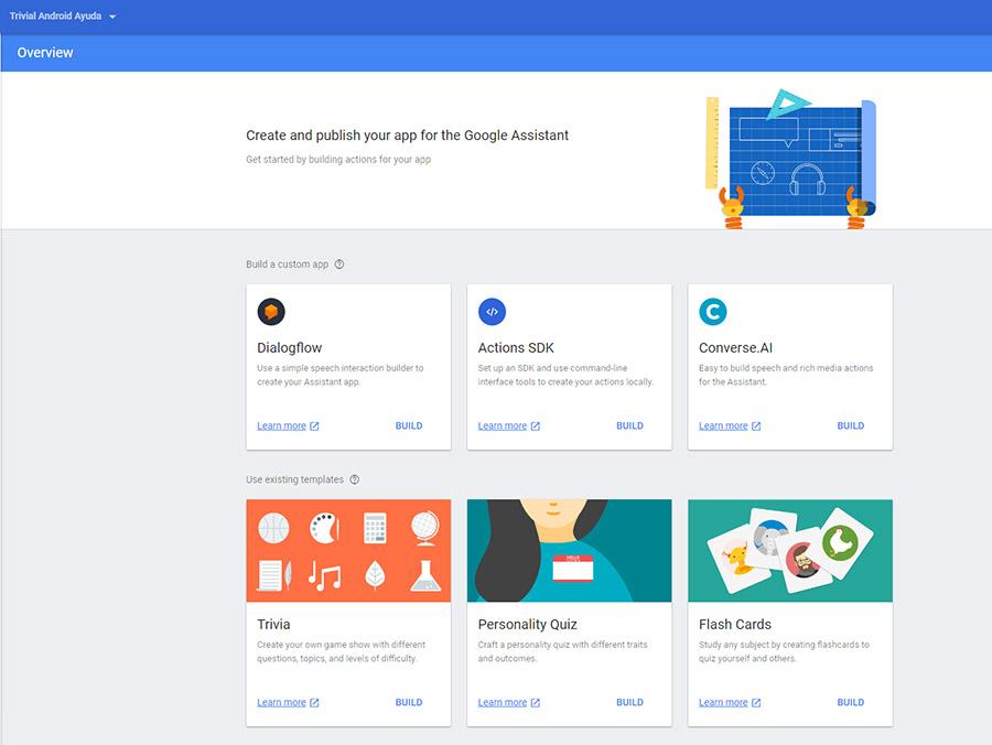 Diversas opciones para crear tu app