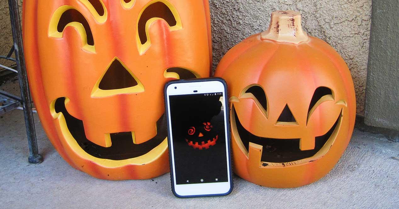halloween android calabaza