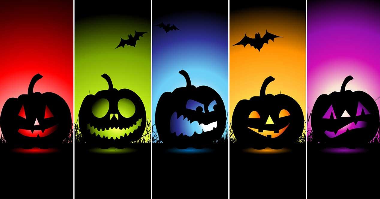 halloween calabazas de colores android