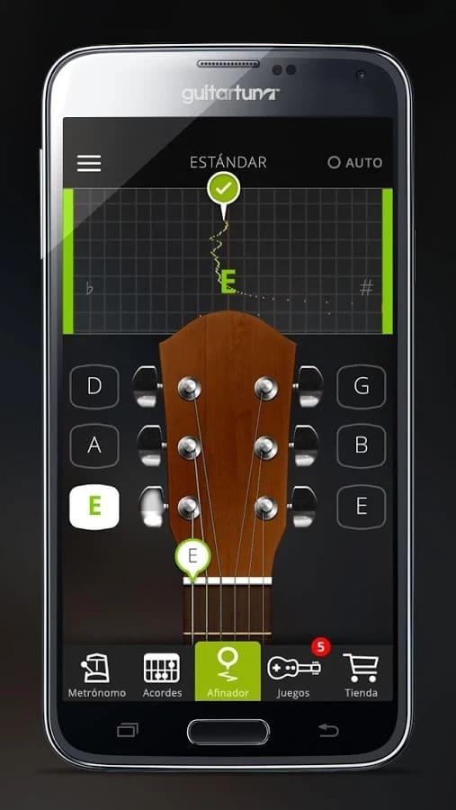 Afinar una guitarra en Android
