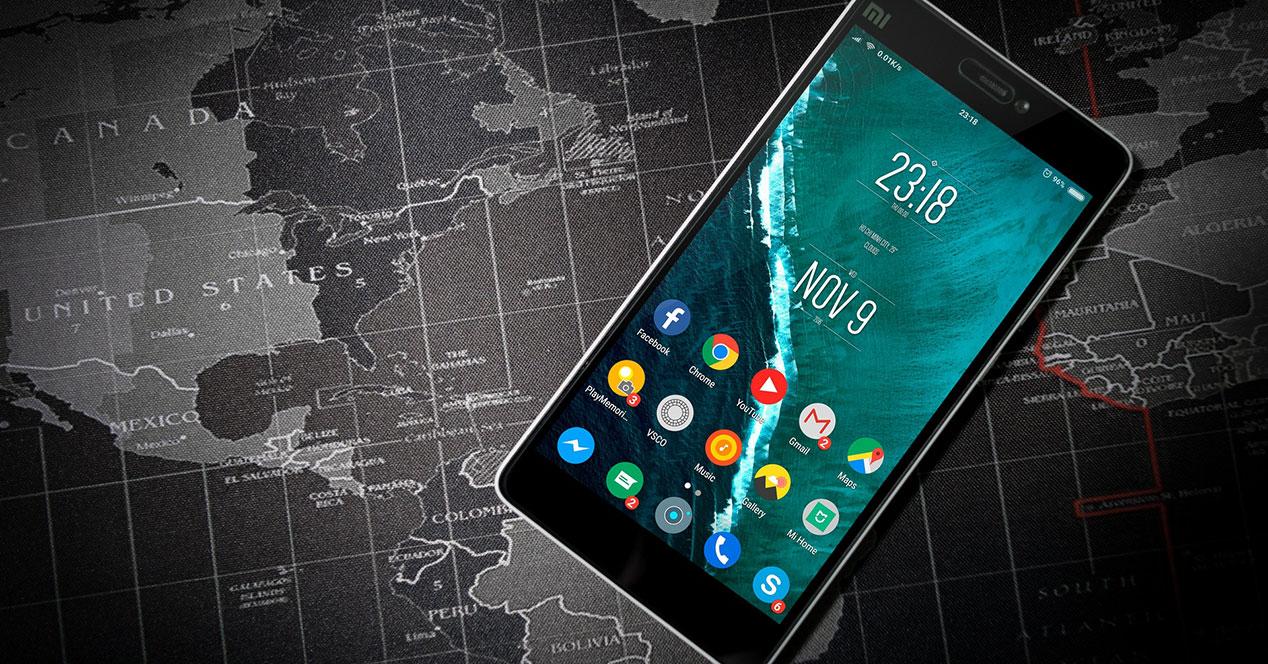 movil mostrando apps