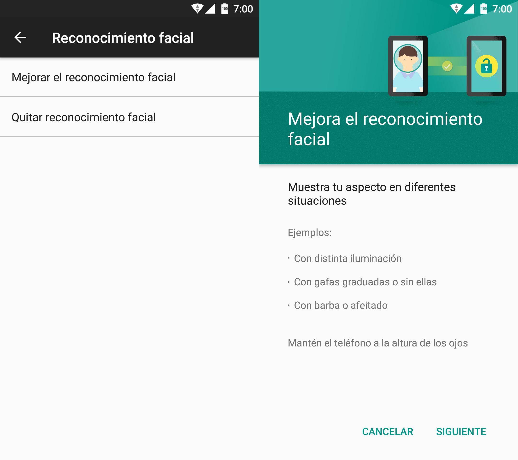 Mejora el reconocimiento facial de Android