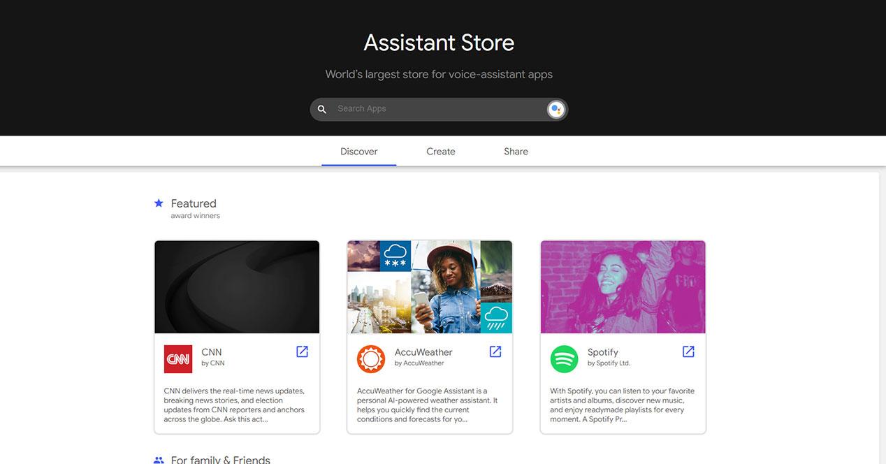 Assistant Store: la tienda de apps para el Asistente de Google