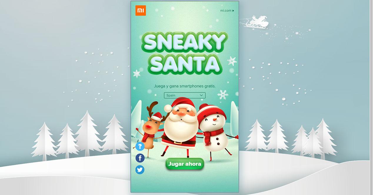 SneakySanta: consigue un teléfono Xiaomi de regalo