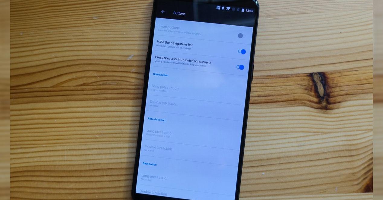 OnePlus 6 gestos de navegación