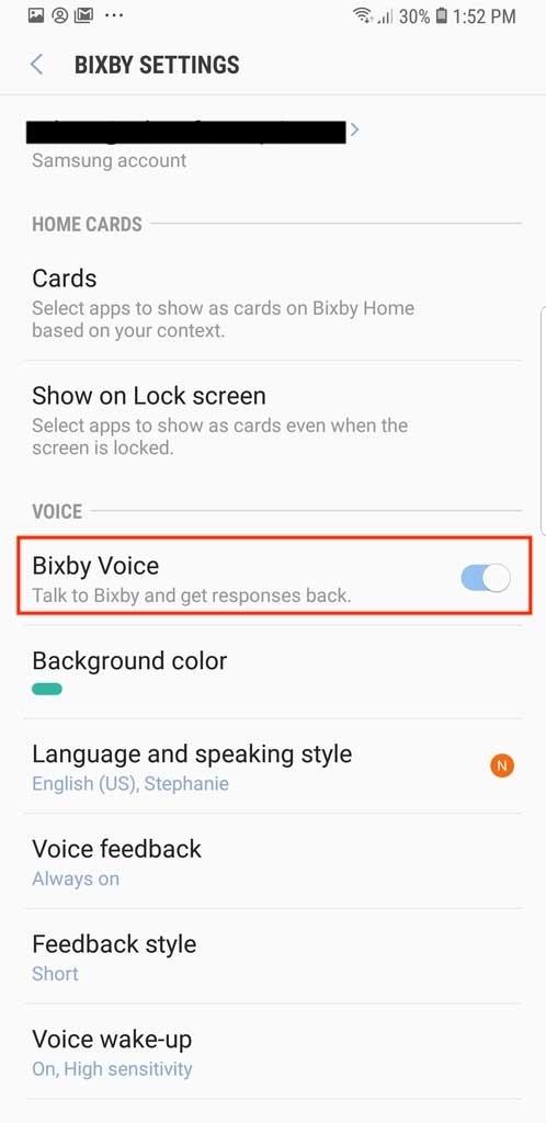 desactivar Bixby Samsung Galaxy S9