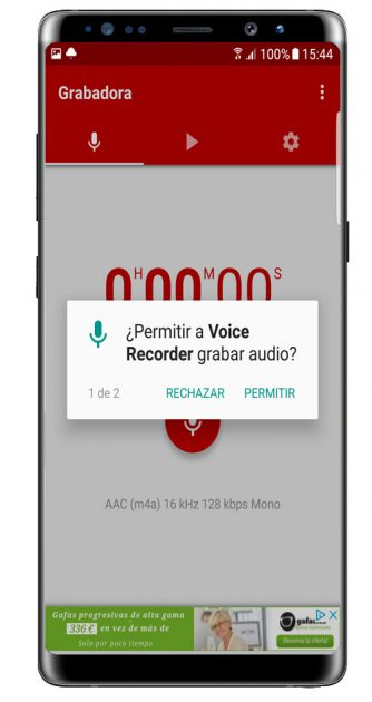 Permisos Voice Recorder Pro - High Quality